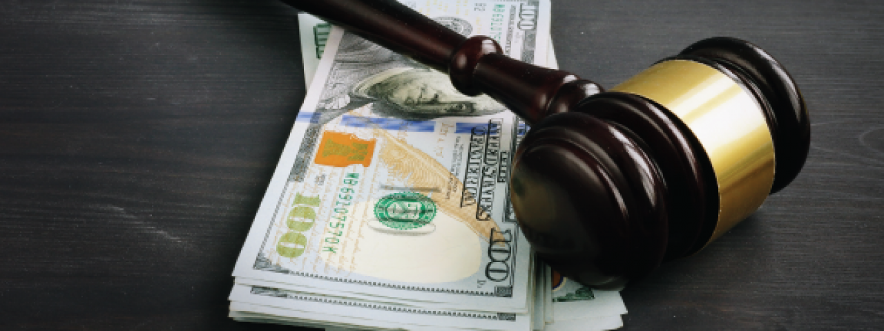 image of money and a gavel