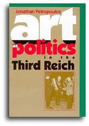 "Book cover for ""Art as Politics in the Third Reich"" book"